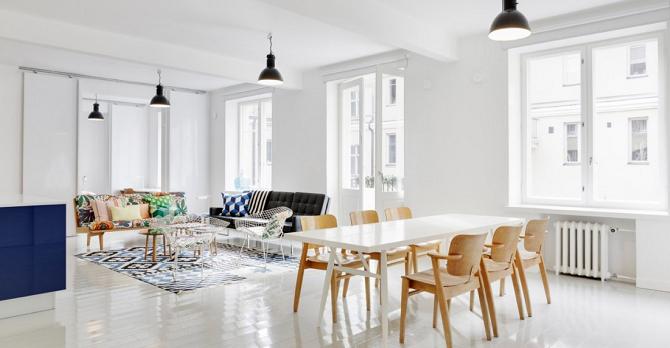El estilo n rdico destaca entre los actuales interiores de for Disenos de casas actuales