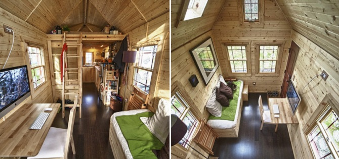 Una de las casas de madera m s peque a - Casa pequena de madera ...